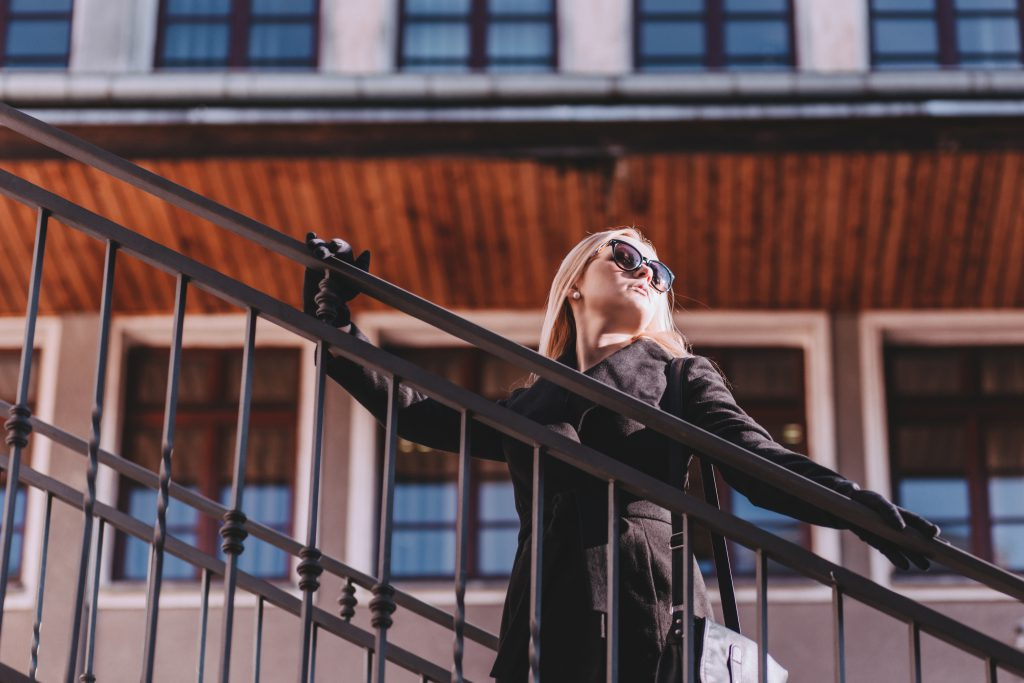 Street style shoot on stairs - free stock photo