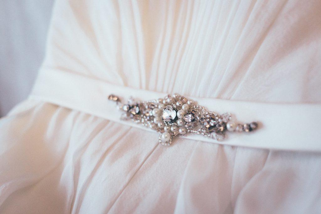Wedding dress detail - free stock photo