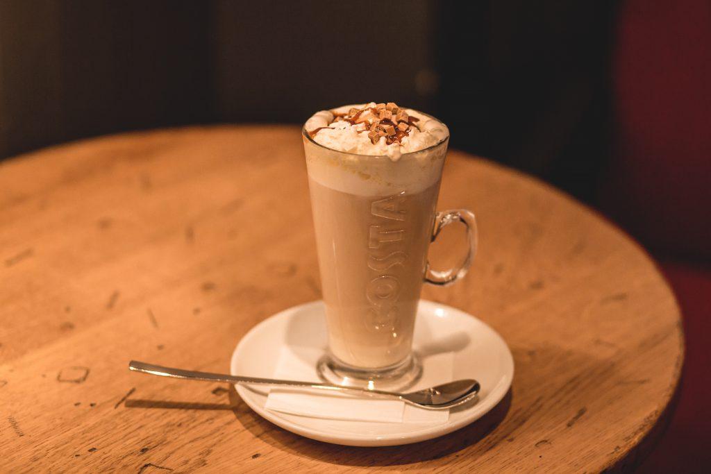 Caramel latte - free stock photo
