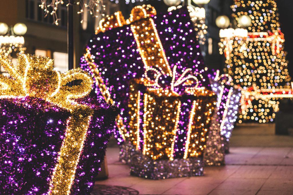 Christmas city decorations - free stock photo