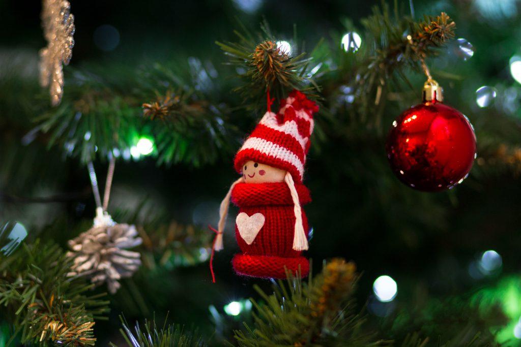 Christmas tree decoration - free stock photo