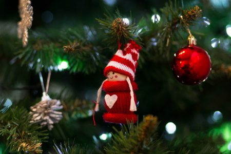 Christmas tree decoration - free stock photo