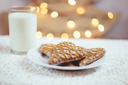 Gingerbread cookies and milk 2 - free stock photo