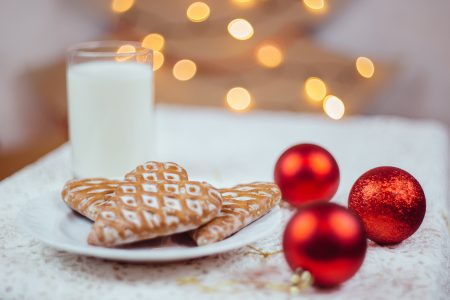 Gingerbread cookies and milk 4 - free stock photo