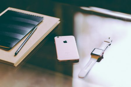 iPhone, iWatch and notebook 3 - free stock photo
