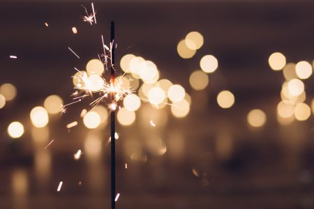 Sparkler and bokeh - free stock photo