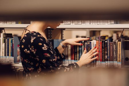 Girl in a library 4 - free stock photo