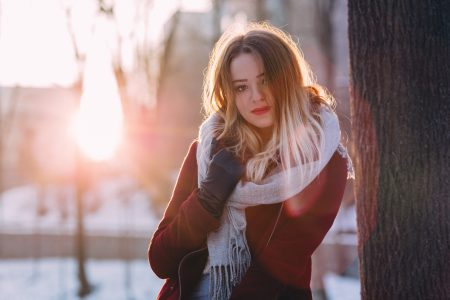 Girl winter portrait 2 - free stock photo