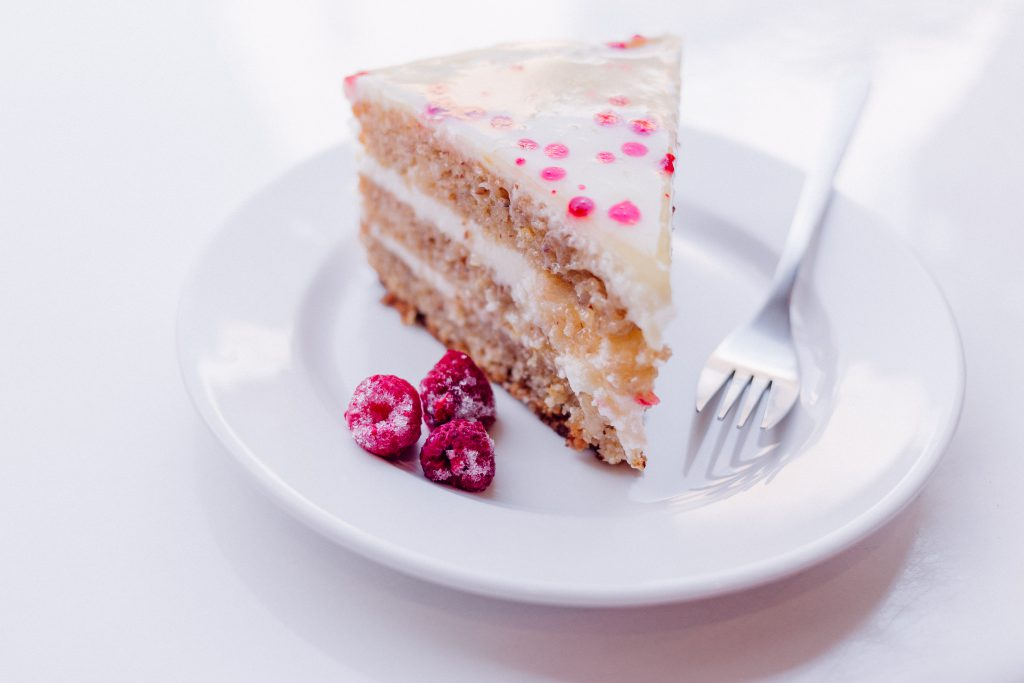 Raspberry cake 2 - free stock photo
