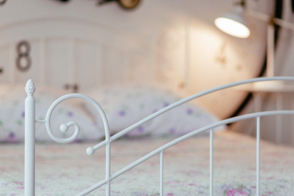 Vintage white bed - free stock photo