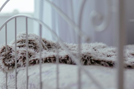 Vintage white bed 2 - free stock photo