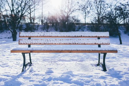 Winter bench - free stock photo