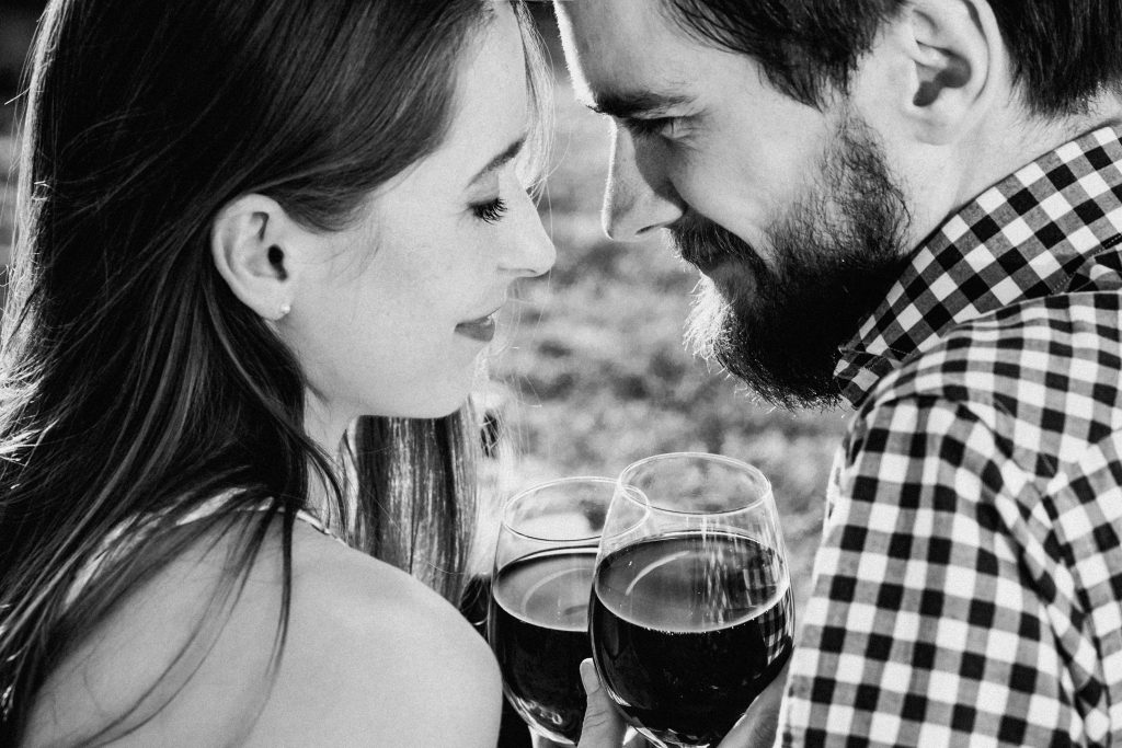 A couple drinking wine 2 - free stock photo
