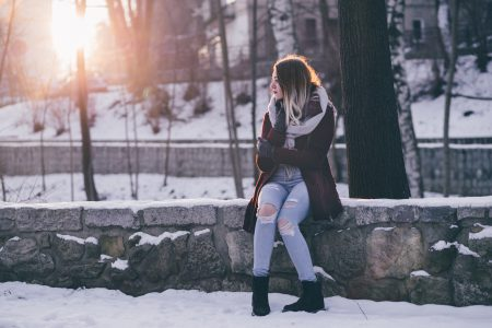 A girl winter portrait 3 - free stock photo