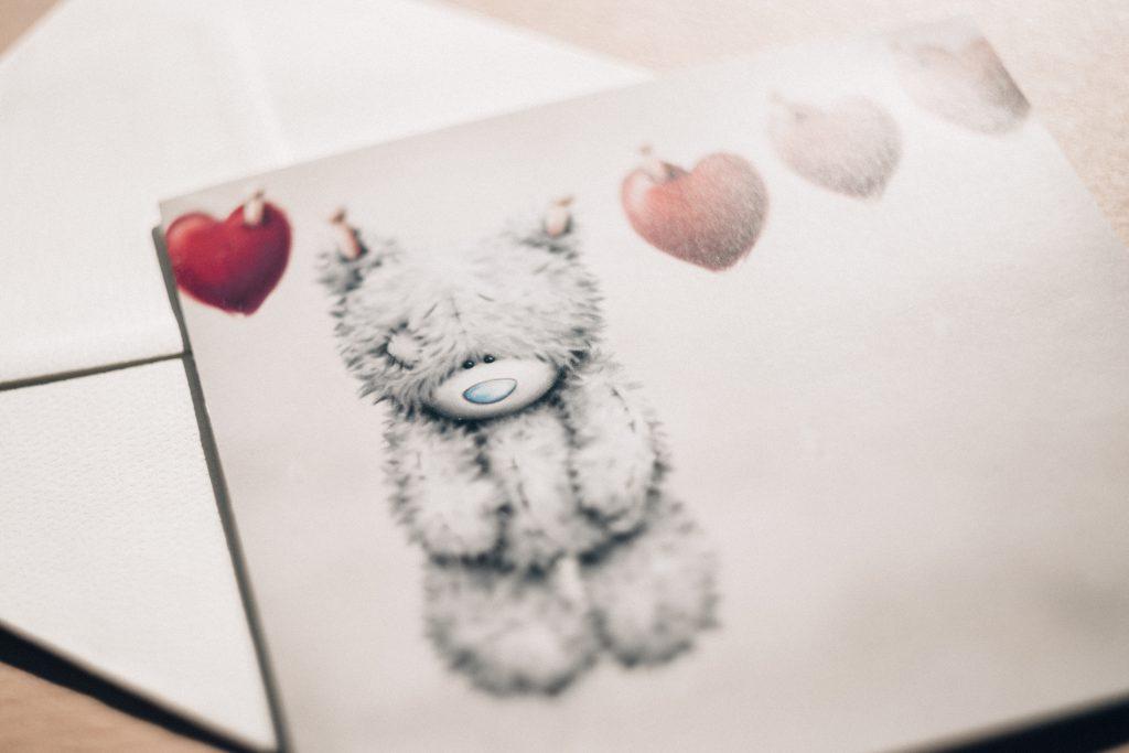 Valentines postcard - free stock photo
