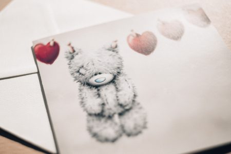 Valentines postcard - free stock photo