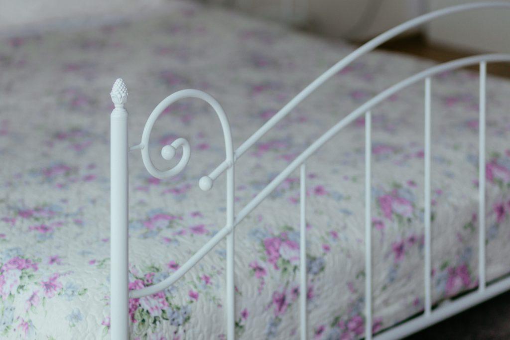 A vintage white bed 3 - free stock photo