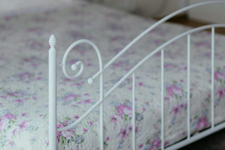 A vintage white bed 3 - free stock photo
