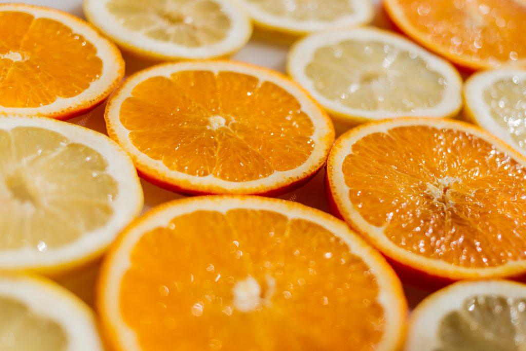 Orange and lemon slices - free stock photo