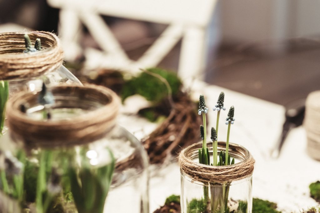 Spring table decoration - free stock photo