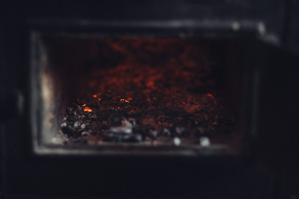 Ashes in an old stove - free stock photo