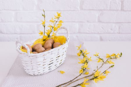Easter basket - free stock photo