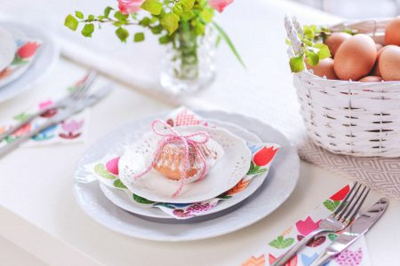 Easter table set - free stock photo