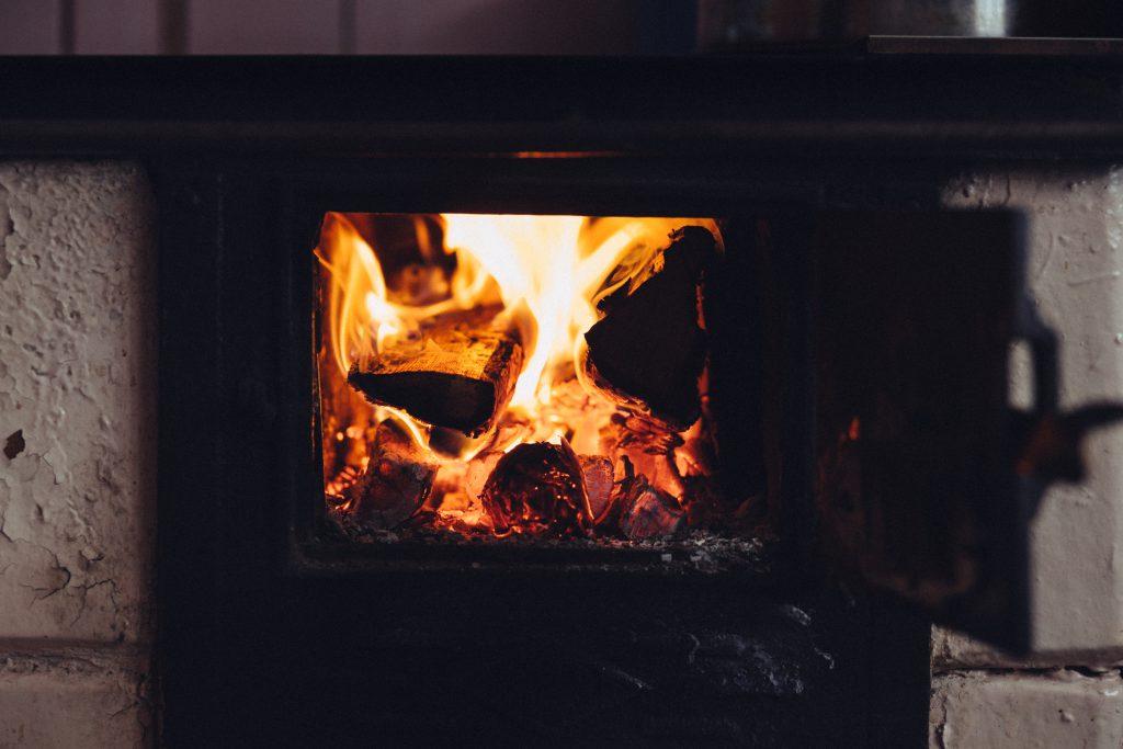 Old tile kitchen stove - free stock photo