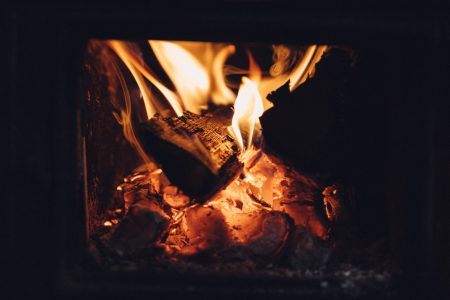 Old tile stove fire - free stock photo