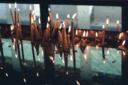 Votive candles 4 - free stock photo