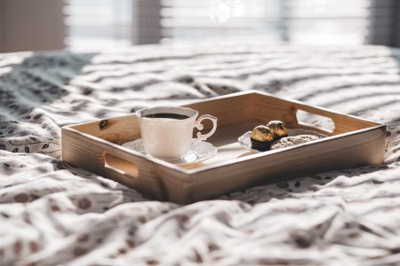 Coffee in bed 2 - free stock photo