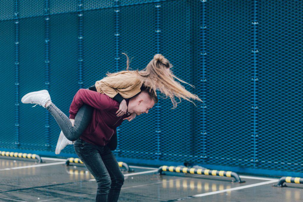 A couple having fun - free stock photo