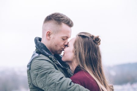 A hugging couple 4 - free stock photo