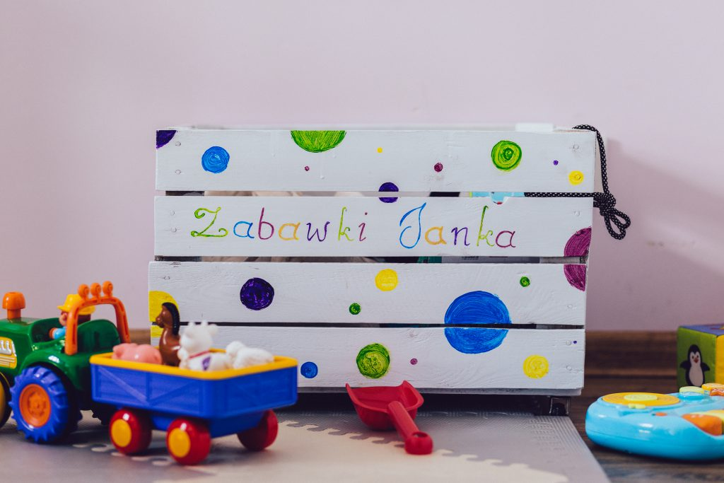 Personalized toy box - free stock photo
