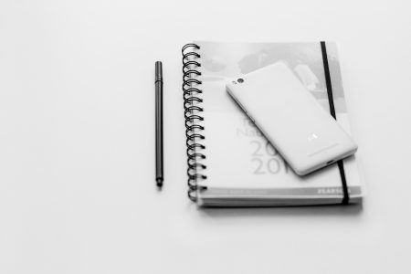 A planner and a phone 2 - free stock photo