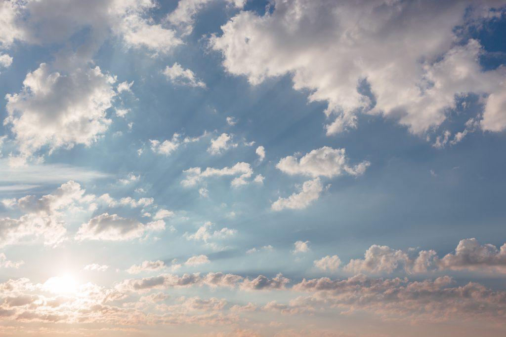 Sky at sunrise - free stock photo