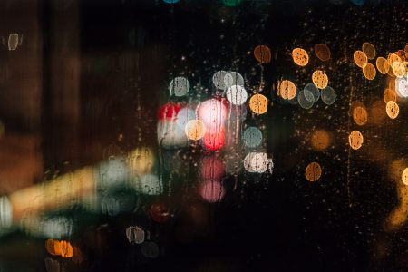 Rain bokeh - free stock photo