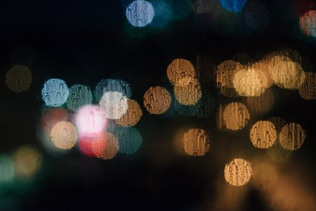 Rain bokeh 3 - free stock photo