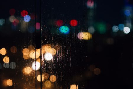 Rain bokeh 4 - free stock photo