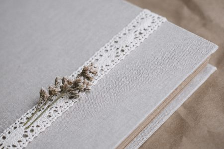 Rustic linen photo album - free stock photo