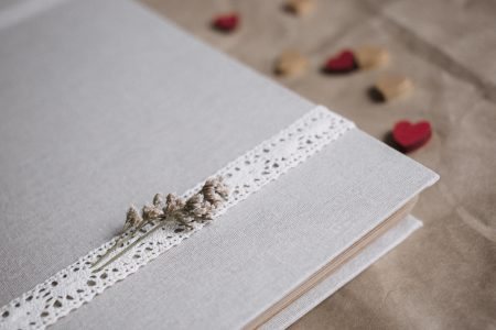 Rustic linen photo album 2 - free stock photo