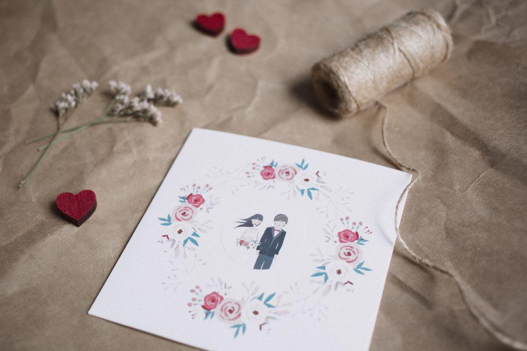 Rustic wedding dvd envelope - free stock photo
