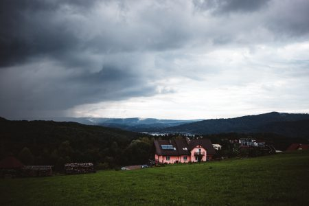 Storm approaching in Bieszczady Mountains