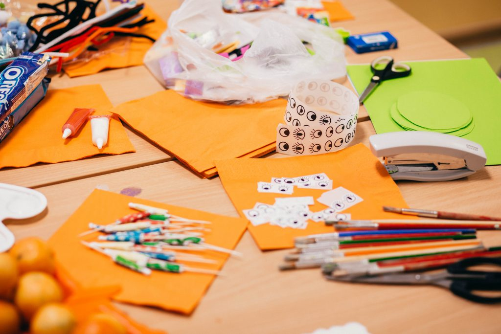 Preschool Halloween table 2 - free stock photo