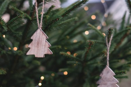 Minimal Christmas tree decoration - free stock photo