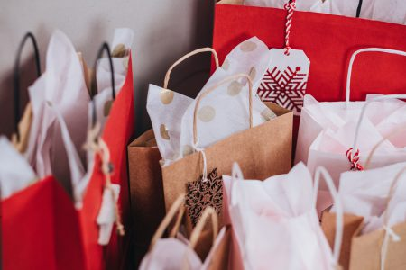 Christmas gifts in bags