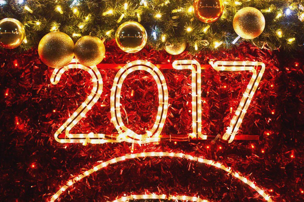 Christmas lights 2017 - free stock photo