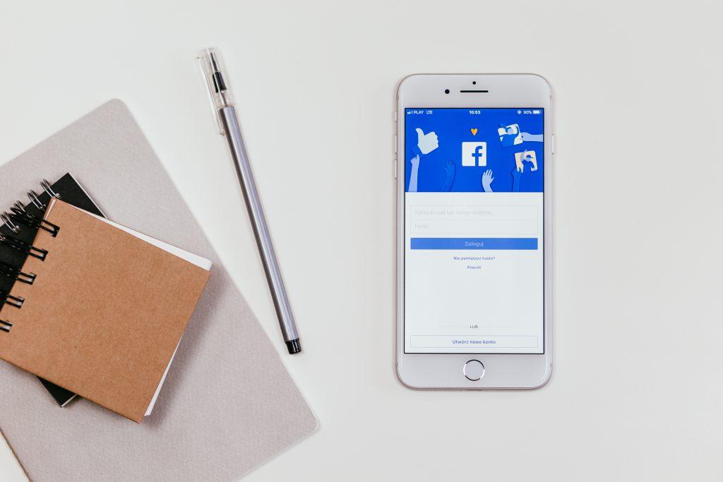Facebook login screen on iPhone 8 Plus - free stock photo