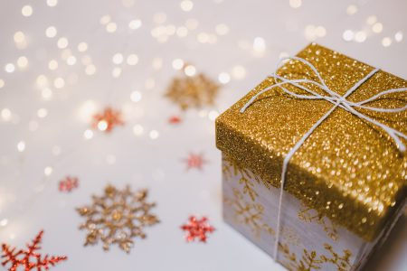 Glitter gift box - free stock photo