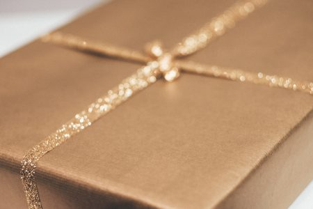 Gold Christmas gift 2 - free stock photo